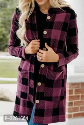 GEORGEOUS HOODED LONG JACKET { Scroll Images to see more collection