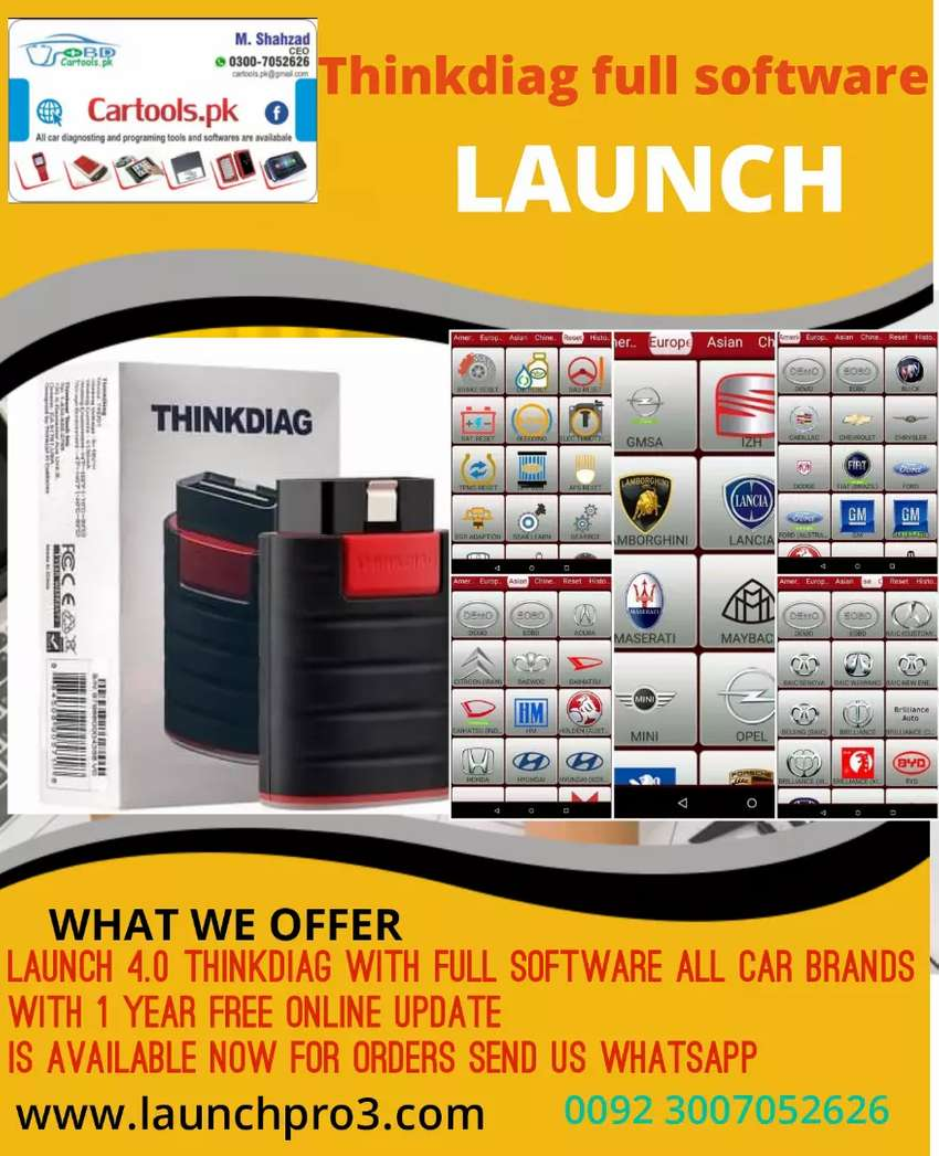 Thinkdiag better than Easydiag3.0 new model Launch 4.0 0