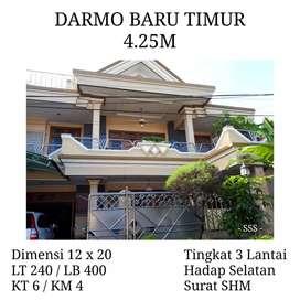 Dijual rumah darmo baru timur 4.25M