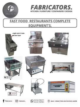 fryer/ hot plate / grill /oven / working table /breading table /