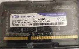 Dijual Ram Laptop DDR3 4GB 1600 Merk Team