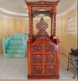 Mimbar masjid ceramah kubah cungkup