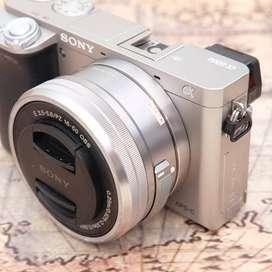 Sony A6000 Sc 4 rban kit 16-50mm OSS SILVER Fullset kode 1122D19