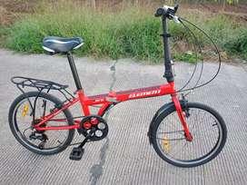 Sepeda lipat element rock