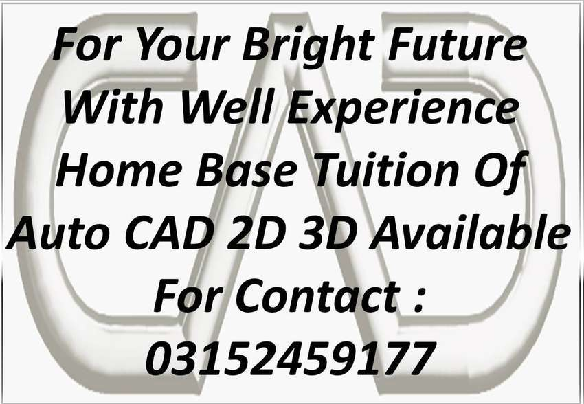 Auto CAD 2D 3D Designing Home Base Tuition Available 0