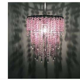 Modern Pink Jewel Easy Fit Ceiling Light Pendant Shade Chandelier Girl