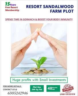 SandalWood Farm plot For sale with EMI Facility
