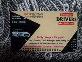 We provide a daily wages driver's as a local and outdoor