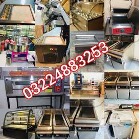 Pizza oven tawa pan rolling deep fryar bakery counter commercial Etc