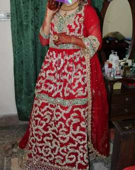 Bridal Dress / Red Color/ Good Condition