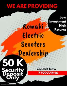 WE ARE OFFERING KOMAKI ELECTRIC SCOOTER DEALERSHIP.