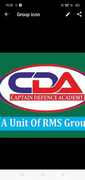 Captain defence academy (Reception work) only for female