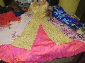 Lengha golden & pink