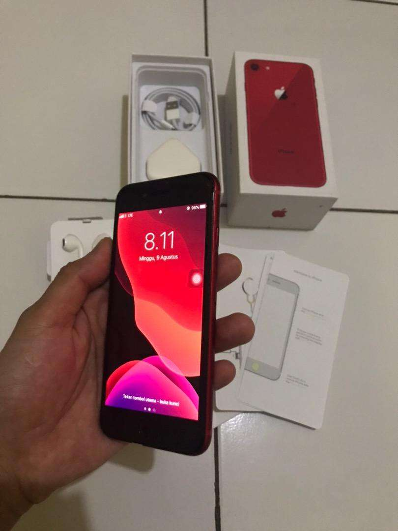 Iphone 8 64gb red edition fullset 7 6 0
