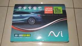 head unit doubledin touchscreen merek AVI 7inch