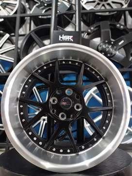 Velg HSR Dogiyai Ring 16x7,5/8,75 H8(100/114,3) Black Polish