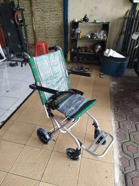 Kursi Roda Travel Travelling Lipatan Kecil Alat Kesehatan Alkes
