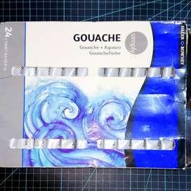 Daler-Rowney Simply Gouache Set 24 x 12 ml Tubes Water Color Cat Air
