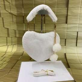 Heart shaped soft purses
