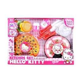 Mainan Anak Pizza Kitchen Set Hello Kiity