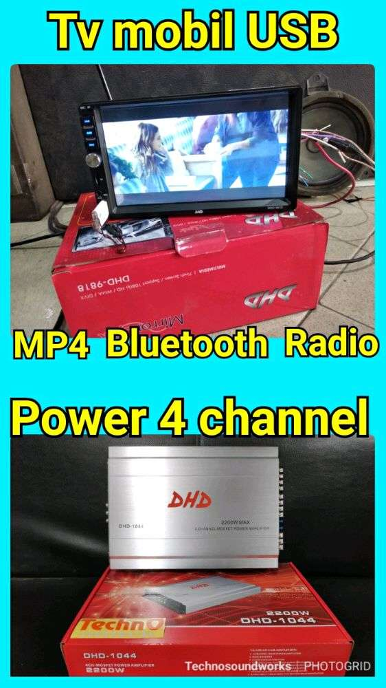 Paket 4 channel Power + Tv double 2 din tape mobil USB MP4 mirror link 0