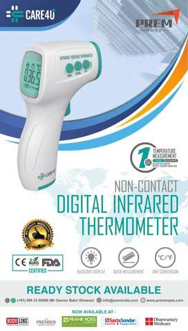 Infrared Thermometer (CARE4U brand). Contactless Thermometer