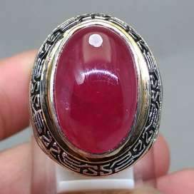 Cincin Batu Akik Ruby Merah Delima kode B400