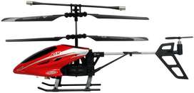 RC Helikopter HX718 3,5ch + Adaptor Merah Hitam