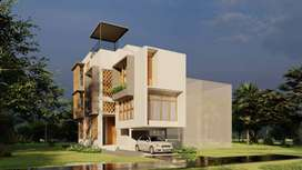 House with roof top swimming pool in Kalamassery , Kochi.