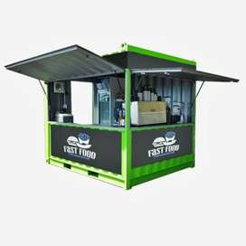 terima cicilan container booth cocok untuk segala jualan anda