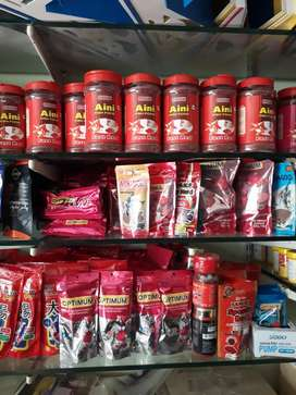 Fish Food & Bird Foods Available