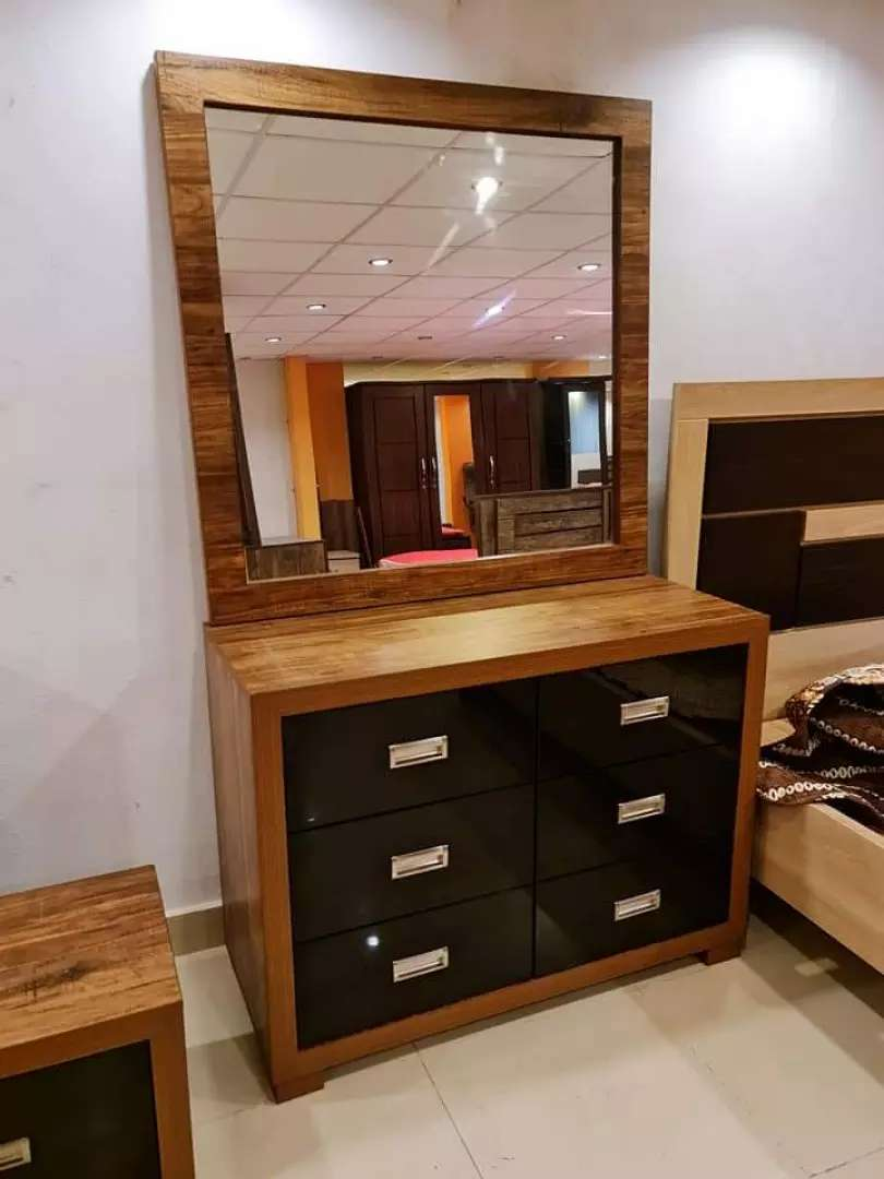 New arrival 6drawers dressing table in wood touch best quality