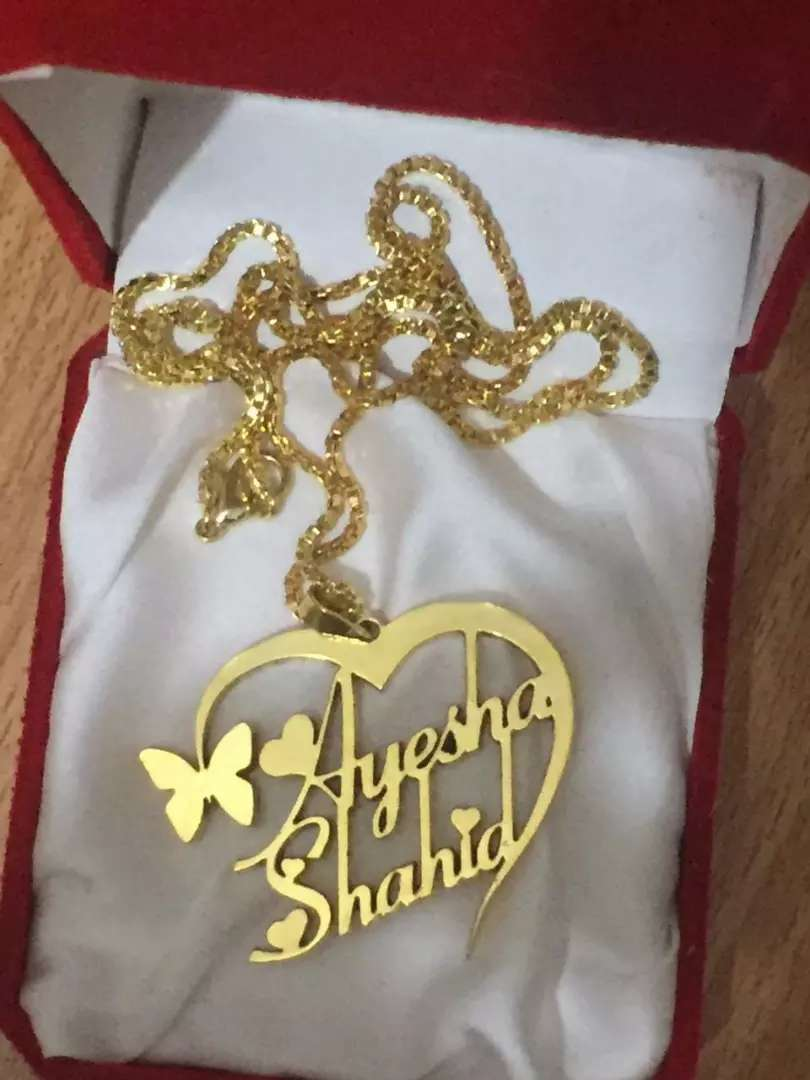 Customized Name 100% Gold Necklace Jewellery