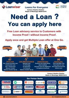 All Types of Loan & Insurance Available