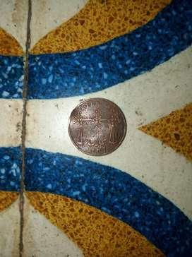 Old coin 1833 QUARTER ANNA