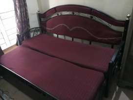 2 Sofa cum beds ( colour Red & Blue)