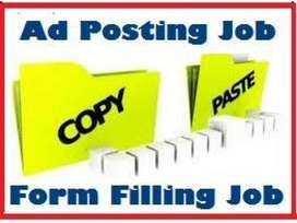 Earn daily Rs 1000/ - Data Entry/ Simple Typing / Form Filling jobs..