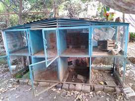 Big and good cages for hens and other animals.