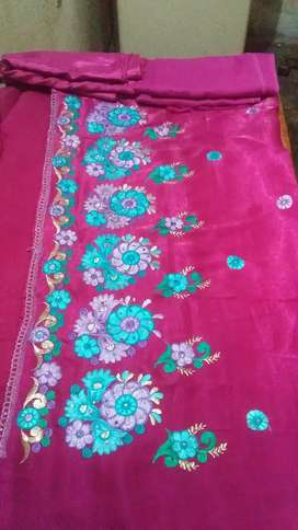 Suit unstich with and without duptta print embroidery computers works