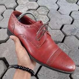 Van mario wingtip Hand made Leather Size 42 26,5 cm