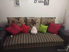 Beautiful Brown Sofa Set