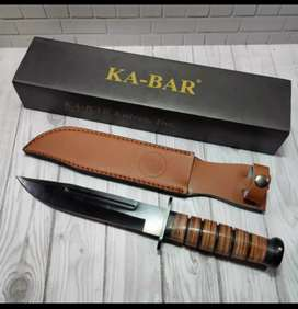 Pisau sangkur hunting KA-BAR baja survival kit