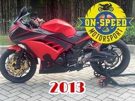 CASH CREDIT jual motor moge kawasaki ninja 250 fi merah 2014 PMK modif