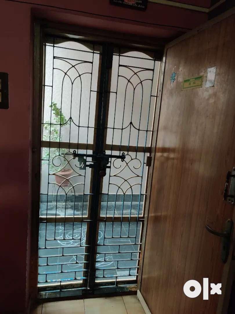 Grill door with steel mesh