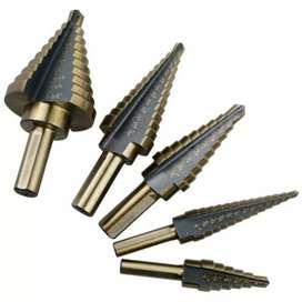 Mata Bor Pagoda Spiral Drill Step Down Titanium Tipe 2 5 PCS