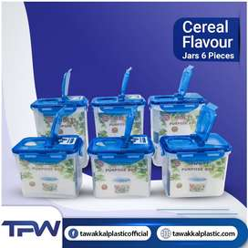 (Deal 9) 6 jars with Seal CEREAL FLAVOR PACK