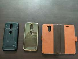 Used moto g4 plus covers in good condition