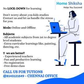 Need female tutor in Korattur