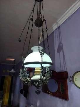 Lampu Katrol atau Kerek Besi Motif Camerco Kuno