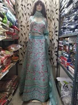 Heavey Export quality Fancy Bridal Lehenga With Full Stone Work